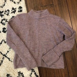 Topshop Purple Cropped Pullover Sweater